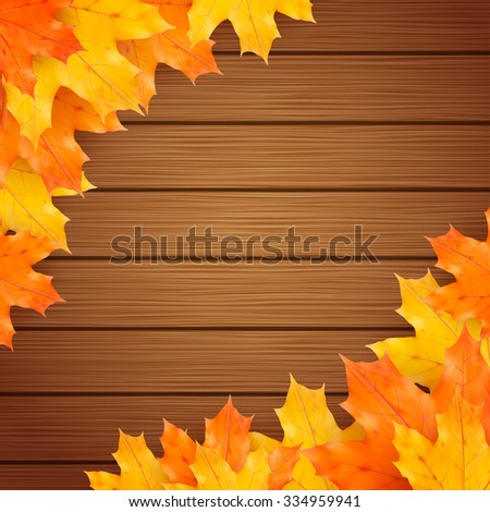 autumn vector background with