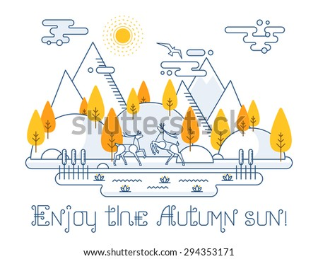 autumn vector landscape