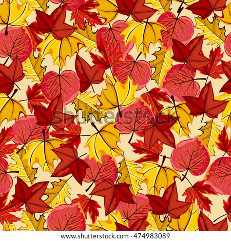 autumn vector seamless pattern