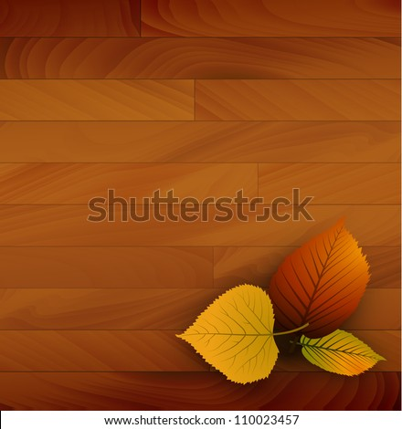 autumn vector wooden background
