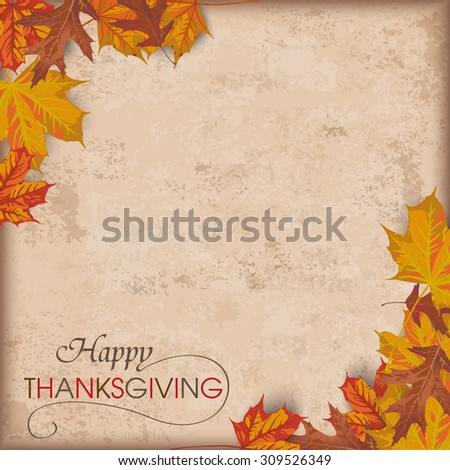 autumn vintage background with