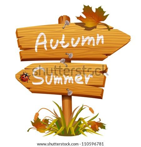 autumn wooden arrow icon