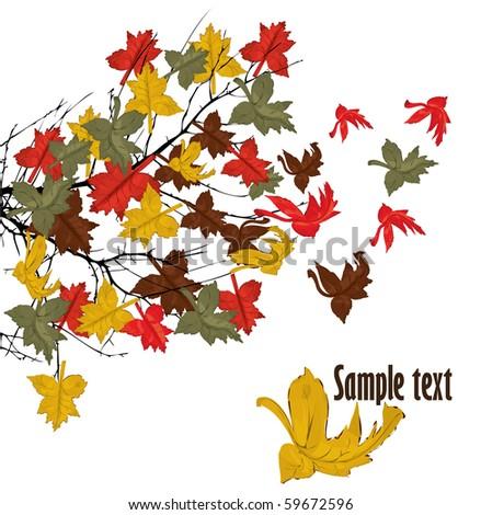 autumnal brunch  vector