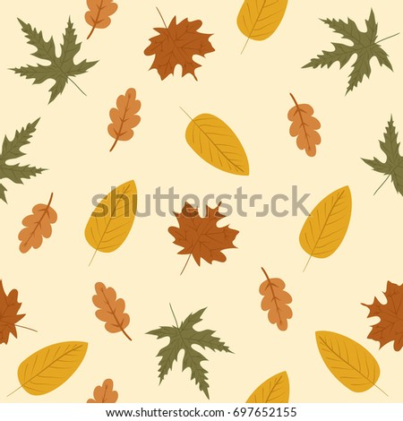 autumnal leaves pattern