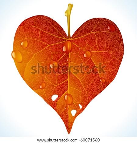 autumnal love vector fallen