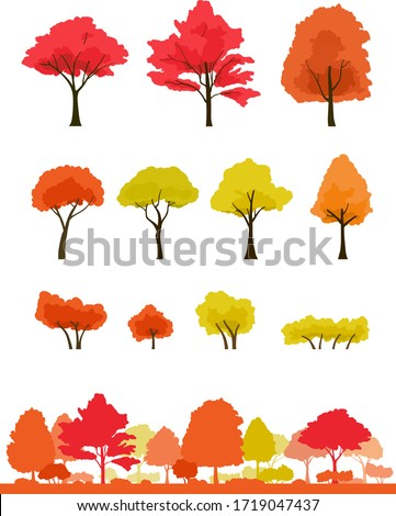 autumnal trees and autumnal