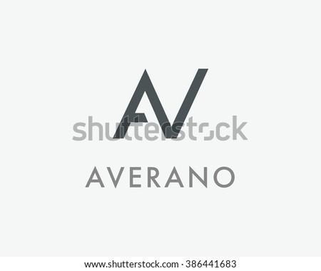 AV Letter monogram logo design. A, V and N initials mark. AN vector symbol