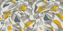 Avant Gard modern vector seamless pattern. Yellow-grey palette. Contemporary art ornament.