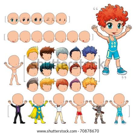 avatar boy  vector illustration