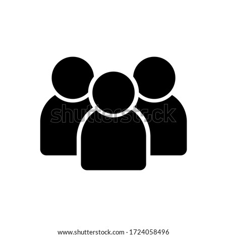 Avatar Group Icon Vector Template