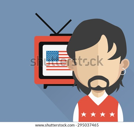 avatar icon with american flag