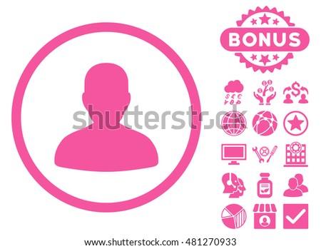 avatar icon with bonus vector
