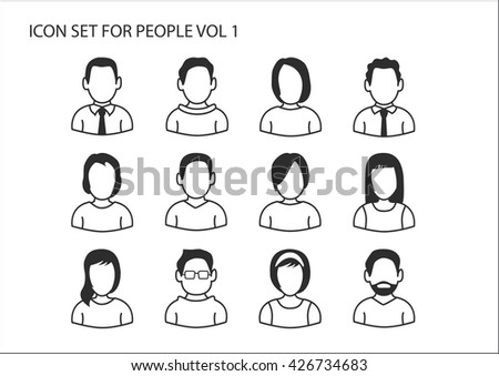 Avatar icons of people