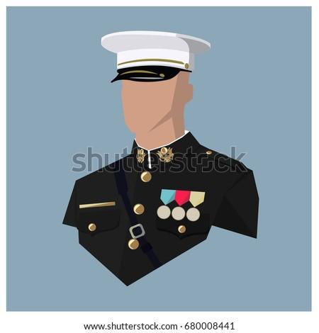 avatar of a us marine vector