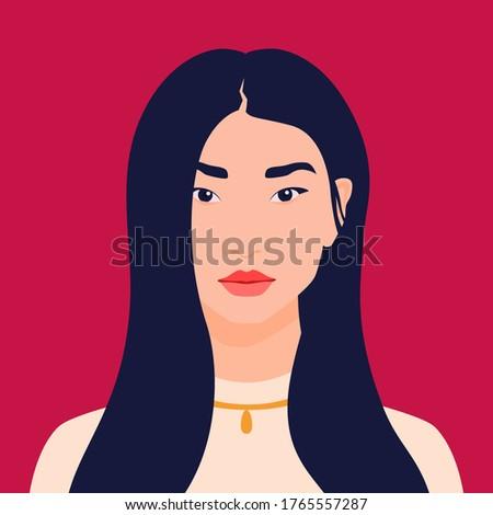 avatar of an asian girl happy