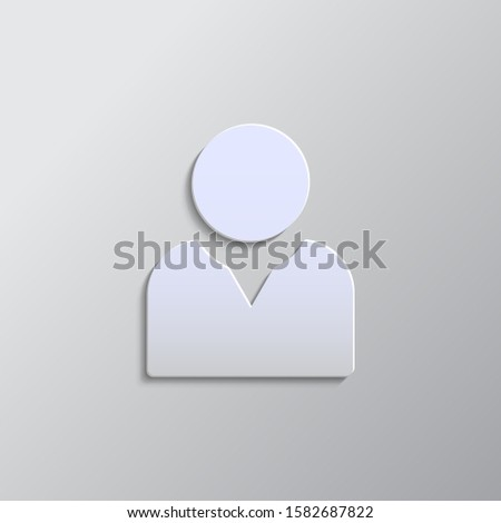 avatar, user paper style, icon- Paper style vector icon.