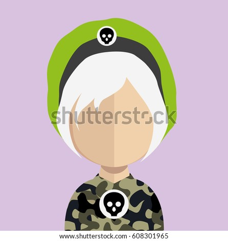 avatar with army camo t shirt