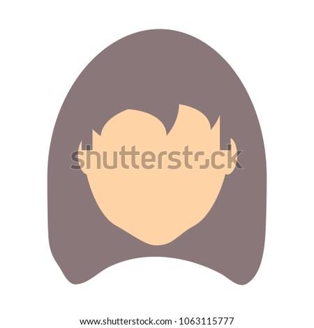 avatar woman face icon