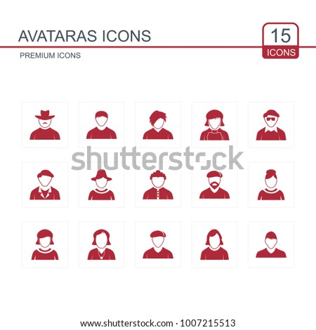 Avataras icons set red