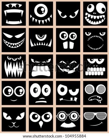avatars in black  set of 20