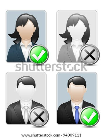 Avatars of male and female. Vector