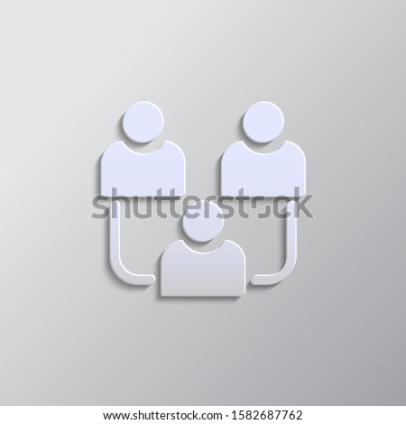 avatars, users, contact paper style, icon- Paper style vector icon.