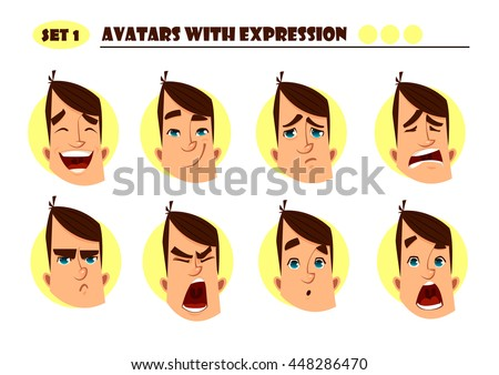 avatars with expression man