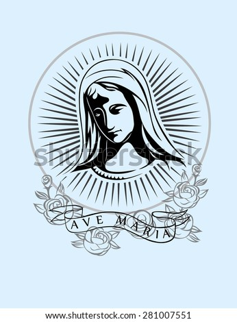 ave maria  art vector t shirt