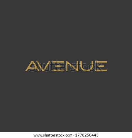 Avenue logo design with luxury and elegant look fit for cafe and restaurant industry or fashion Stock photo ©
