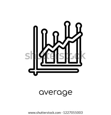 average earnings growth icon. Trendy modern flat linear vector average earnings growth icon on white background from thin line Average earnings growth collection, outline vector illustration