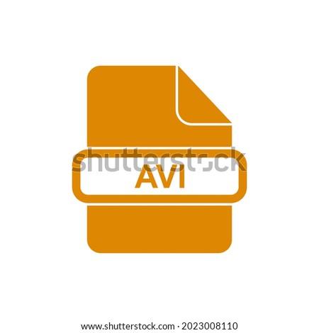 AVI file format icon vector sign symbol Foto stock ©