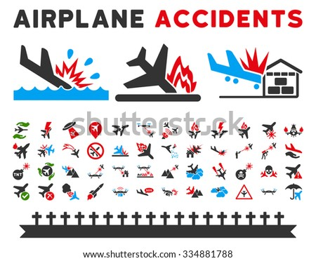 aviation accidents vector icon