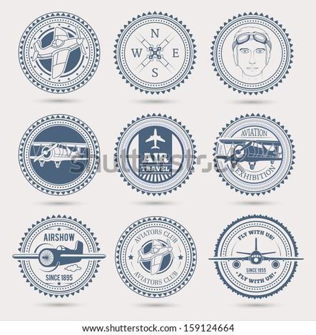 aviation badges eps10