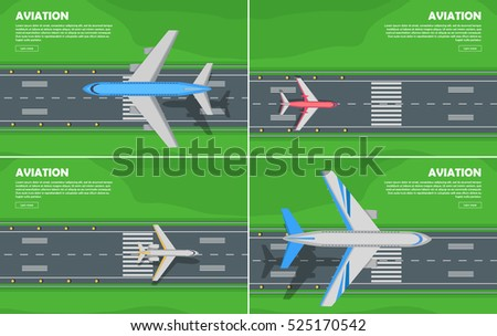 aviation conceptual banners