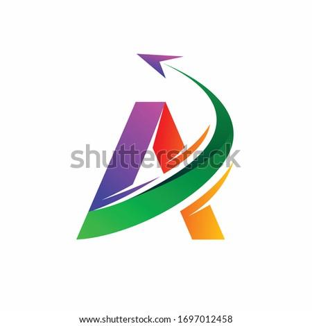 aviation logo design  letter a