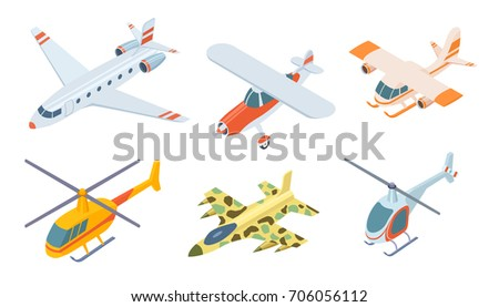 aviation set icons isolated on