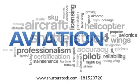 aviation word cloud blue bubble