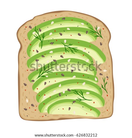 avocado toast fresh toasted