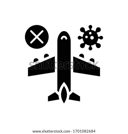 Avoid Traveling Vector Solid illustration. Corona virus icon.