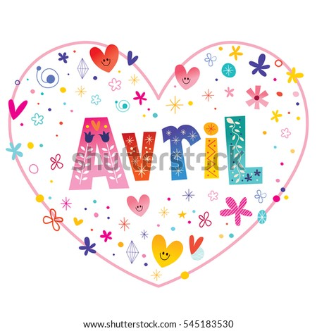 avril girls name decorative