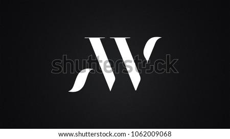 AW Letter Logo Design Template Vector