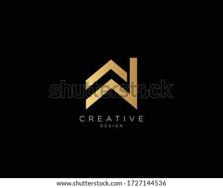 AW WA Logo Design , Creative Minimalist Letter AW WA Logo Design