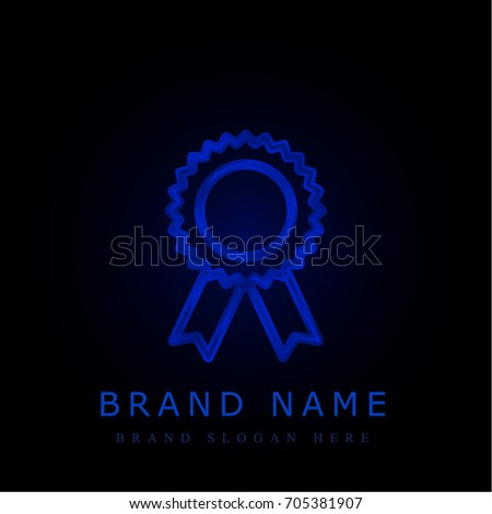 Award blue chromium metallic logo