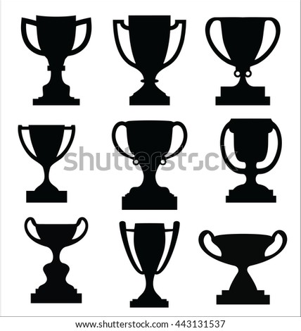 award cups and trophy icons