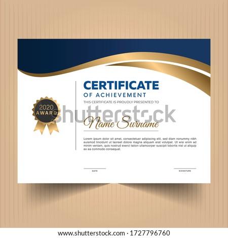 Award diploma certificate of appreciation design template  Foto stock ©