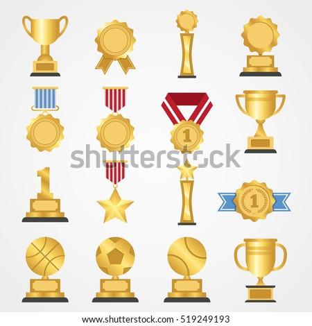 award icon collection design