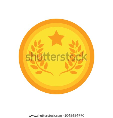 award icon, vector badge, winner symbol