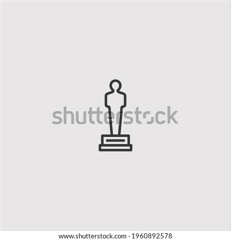 award icon vector icon.Editable stroke.linear style sign for use web design and mobile apps,logo.Symbol illustration.Pixel vector graphics - Vector