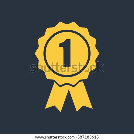 Award icon with 1