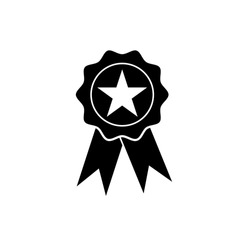 Award medal badge icon in trendy outline style design. Vector graphic illustration. Badge symbol for website design, logo, app, and ui. Editable vector stroke. EPS 10.